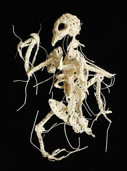 Crocheted Skeleton Sculptures of Caitlin T. McCormack