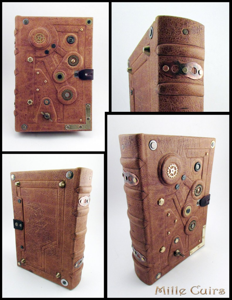 Steampunk Leather Tome