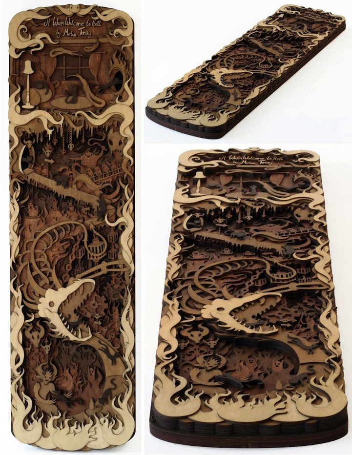 Wood cuts by Martin Tomsky--hat tip Bonni