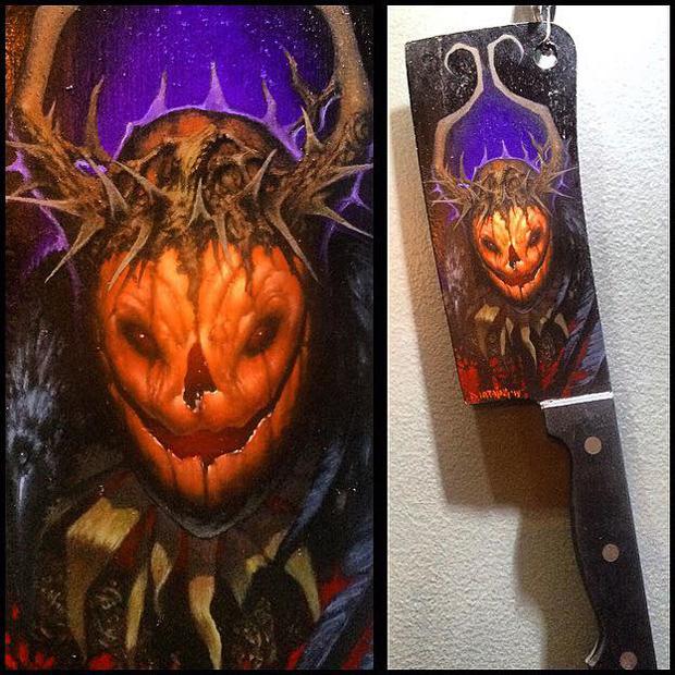 Dan Harding's Pumpkin King, from the Halloween Art Feature at Creep Machine