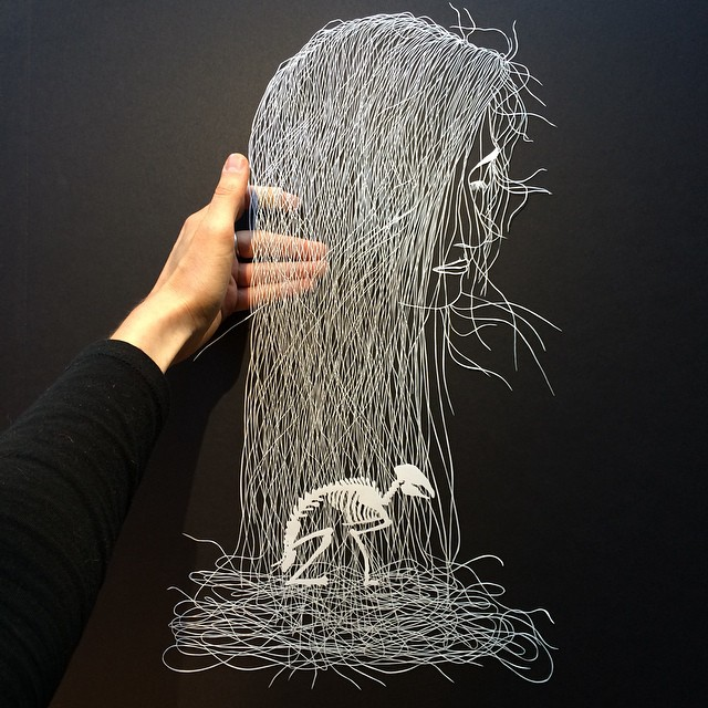 Paper Carvings by Maude White. Via SheWalksSoftly