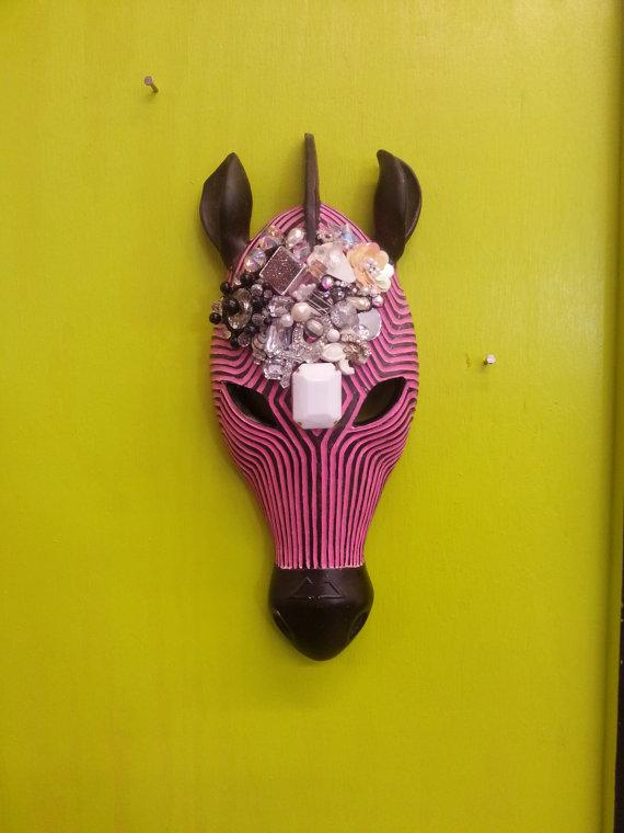 Jeweled zebra head
