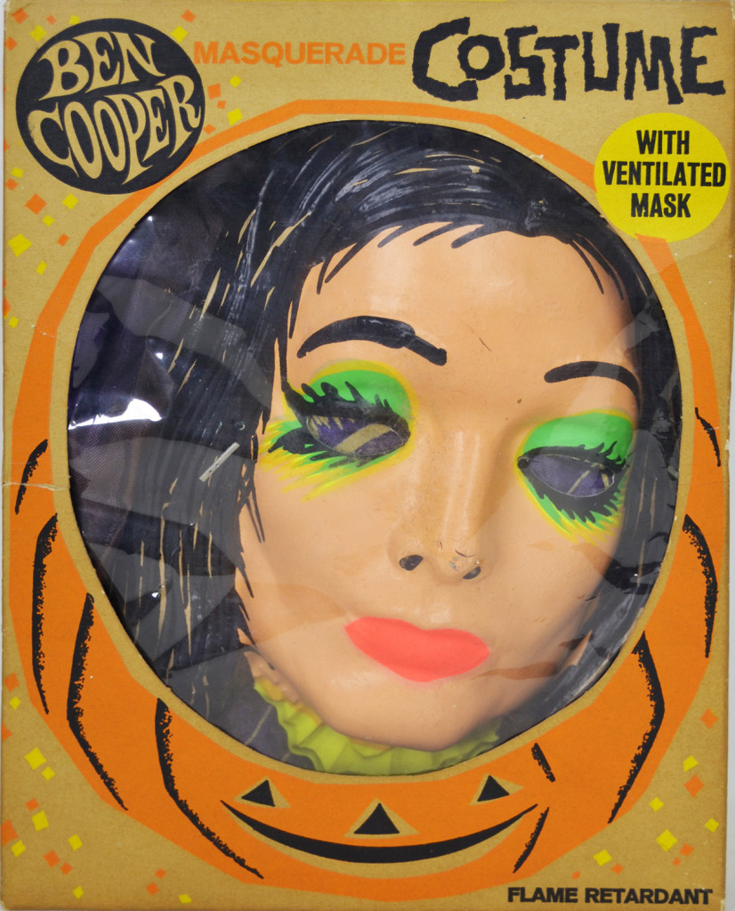 Bad Halloween costumes of the 70s and 80s. This is Morticia Addams, not Michael Jackson.
