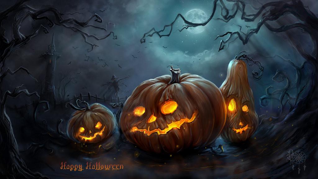 Halloween Pumpkins by LadyOwl