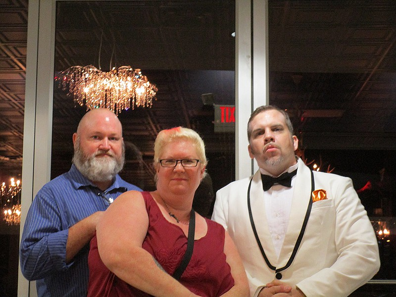 Us with Buddy the Bouncer.
